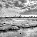 Rolling Into Nyc Black And White by Sharon Popek