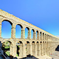 Roman Aqueduct Of Segovia From The North by Weston Westmoreland