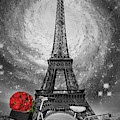 Romance At The Eiffel Tower by Debra and Dave Vanderlaan