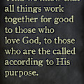 Romans 8 28. Inspirational Quotes Wall Art Collection by Mark Lawrence