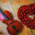 Romantic Violin And Heart by Garry Gay