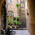 The Cobblestone Streets Of Sorrento Italy by Robert Bellomy