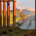 Rome Travel Poster by Graphicaartis