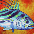 Rooster Fish 2 by Tish Wynne