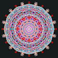 Rose Heart And Butterfly Mandala by Catherine Lott