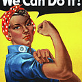 Rosie The Riveter Vintage Ethnic by Tony Rubino