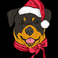 Rotweiler Xmas Hat Dog Pet Lover Christmas by TeeQueen2603