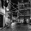 Rouen At Night Monochrome by Randy Scherkenbach