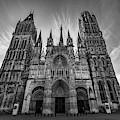 Rouen Cathedral Monochrome by Randy Scherkenbach