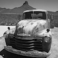 Route 66 - Old Pickup 2012 Bw by Frank Romeo