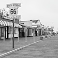 Route 66 Santa Monica  by John McGraw