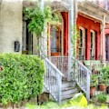 Row Houses Washington Dc by Edward Fielding