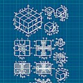Rubik's Cube Patent 1983 - Blueprint by Marianna Mills