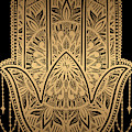 Rubino Mandala Sepia India Hand Gold by Tony Rubino