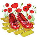 Ruby Slippers Red Poppies Wizard Of Oz by Irina Sztukowski