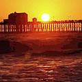 Ruby Sunset Oceanside Pier by Tammera Malicki-Wong