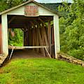 Rural Red Covered Bridge by Adam Jewell