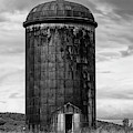 Rusted Silo Bw by Susan Candelario