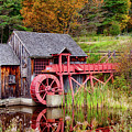 Rustic Grist Mill In Guildhall Vermont by Jeff Folger