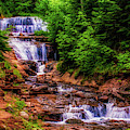 Sable Falls In Michigan by Nick Zelinsky