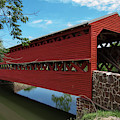 Sachs Covered Bridge by Photography by Laura Lee