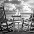 Sail On In Black And White by Debra and Dave Vanderlaan