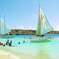Sailing And Swimming At Sandy Ground In Anguilla by Ola Allen
