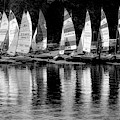 Sailing In Black And White by Debra and Dave Vanderlaan