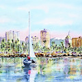 Sailing Into Downtown Long Beach by Debbie Lewis