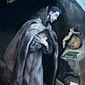 Saint Francis Kneeling In Meditation by Peter Barritt