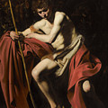 Saint John The Baptist In The Wilderness             by Michelangelo Merisi  Caravaggio