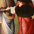 Saint John The Evangelist And Saint Augustine by Pietro Perugino