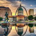 Saint Louis Skyline Morning Cityscape 1x1 by Gregory Ballos