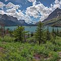 Saint Mary Lake Panorama by Kristen Wilkinson
