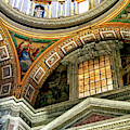 Saint Peters Arcs And Angles At The Vatican by John Rizzuto