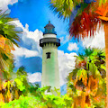 Saint Simons Island Lighthouse Painterly