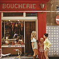 Saint-tropez Boucherie by Slim Aarons