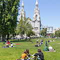 Saints Peter And Paul Church At Washington Square Park On Filbert Street San Francisco R671 by Wingsdomain Art and Photography