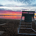 Salem Ma Waikiki Beach Sunrise Wide Lifeguard Chair by Toby McGuire