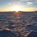 Salt Flat Setting Sun by David Andersen