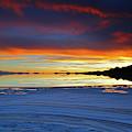 Salt Formations At Sunset Salar De Uyuni Bolivia by James Brunker