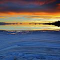 Salt Layers At Sunset Salar De Uyuni Bolivia by James Brunker