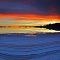 Salt Patterns At Sunset Salar De Uyuni Bolivia by James Brunker