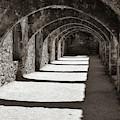 San Antonio Mission San Jose - Square Classic Sepia by Gregory Ballos