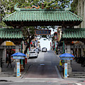 San Francisco Chinatown Dragon Gate R401 Sq by Wingsdomain Art and Photography