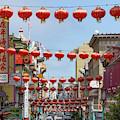 San Francisco Chinatown Lanterns R428 Sq by Wingsdomain Art and Photography