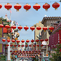 San Francisco Chinatown Lanterns R428 by Wingsdomain Art and Photography