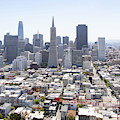 San Francisco Downtown Financial District Cityscape Panorama R566 Sq by Wingsdomain Art and Photography