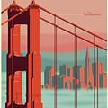 San Francisco Poster - Vintage Travel by Jim Zahniser