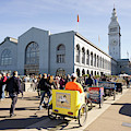 San Francisco Rickshaw Pedicab Brigade At The Ferry Building  On The Embarcadero Dsc6764 by Wingsdomain Art and Photography